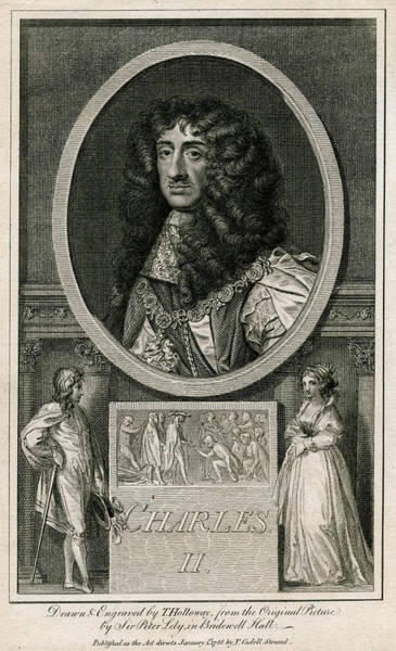 Wall Art - Drawing - Charles II          Date 1630 - 1685 by Mary Evans Picture Library
