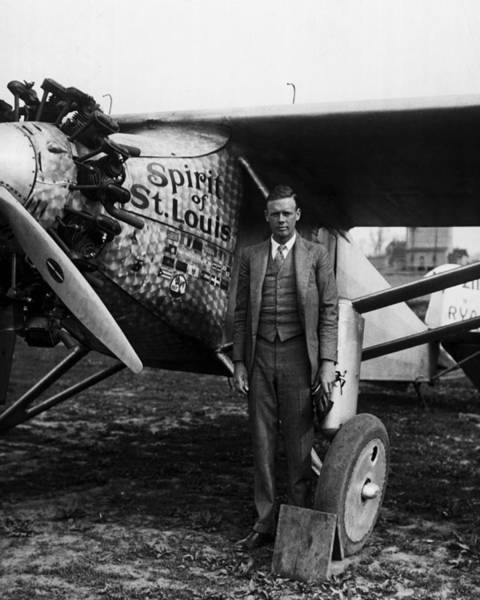 Flying Eagle Photograph - Charles Lindbergh by Retro Images Archive