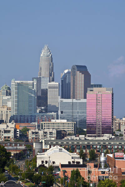 Photograph - Charlotte Skyline by Jill Lang