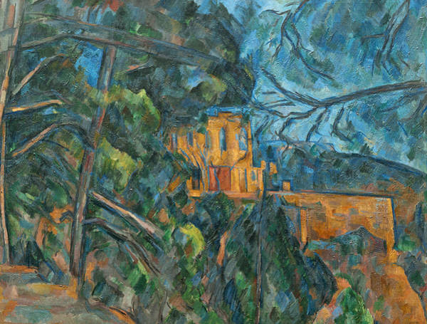 Country Style Painting - Chateau Noir by Paul Cezanne