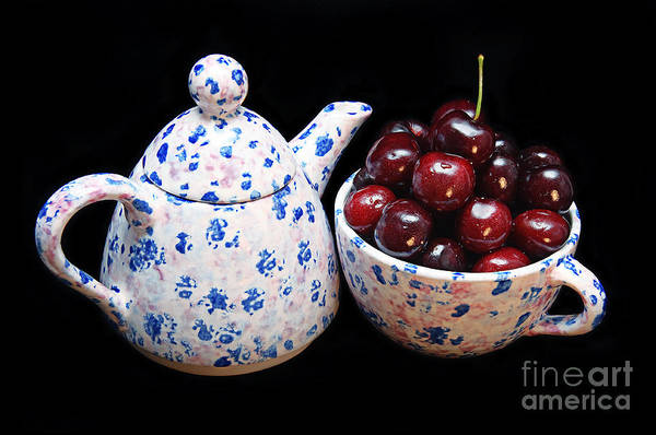 Photograph - Cherries Invited To Tea by Andee Design