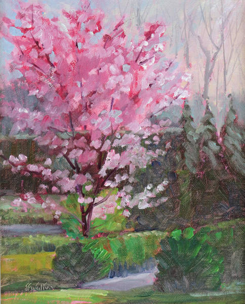 Painting - Cherry Tree by Judy Fischer Walton