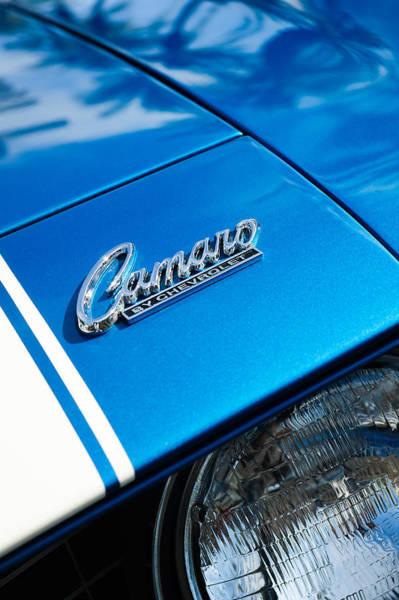 Camaro Wall Art - Photograph - Chevrolet Camaro Emblem by Jill Reger