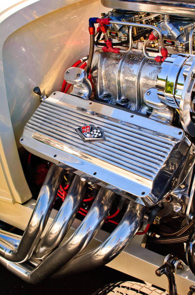 Photograph - Chevrolet Corvette Engine by Jill Reger