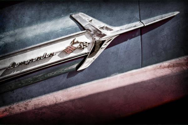 Impala Photograph - Chevrolet Impala Side Emblem by Jill Reger