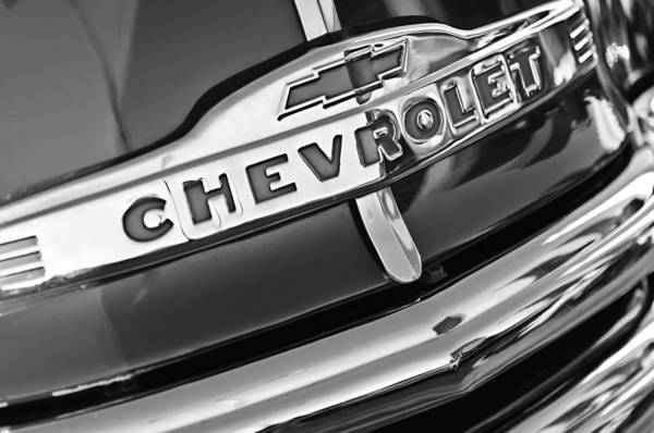 Grilles Photograph - Chevrolet Pickup Truck Grille Emblem by Jill Reger