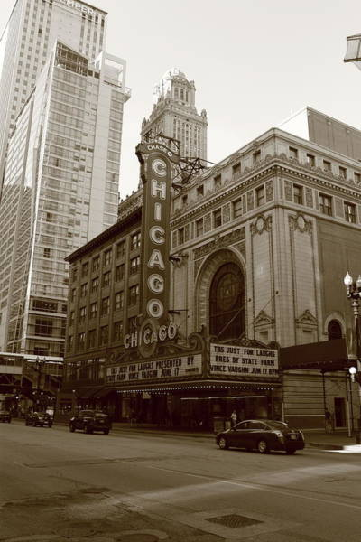 Photograph - Chicago Theater by Frank Romeo