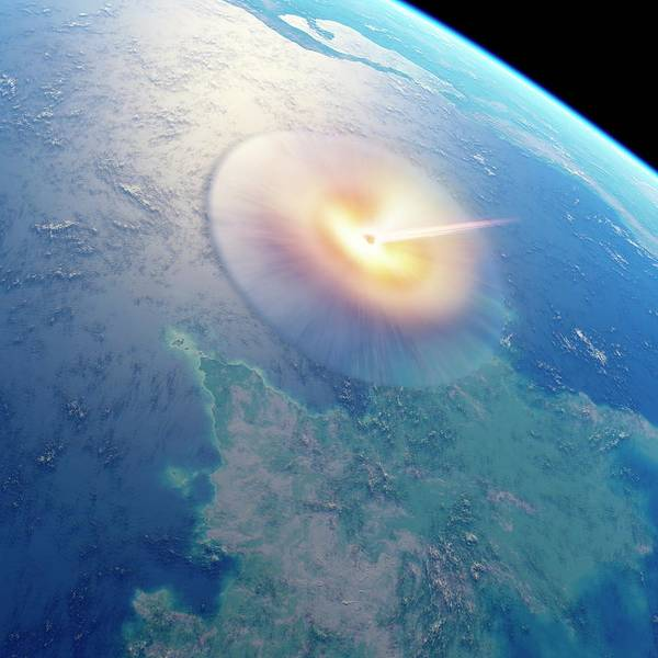 Wall Art - Photograph - Chicxulub Impact Event by Detlev Van Ravenswaay/science Photo Library