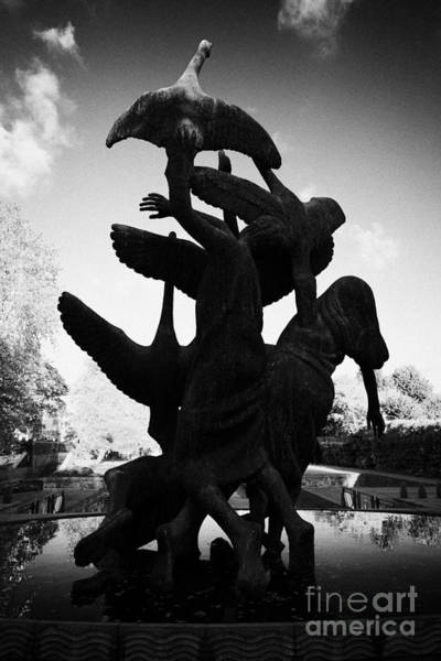 Wall Art - Photograph - Children Of Lir Sculpture In The Garden Of Remembrance Dublin Republic Of Ireland by Joe Fox