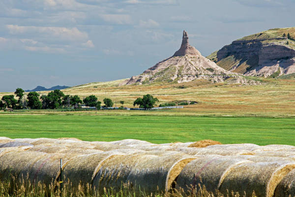 Hay Bale Wall Art - Photograph - Chimney Rock by Jim West
