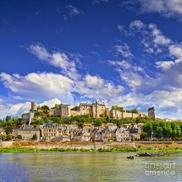 Town Square Wall Art - Photograph - Chinon Loire Valley France by Colin and Linda McKie