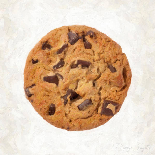 Ingredient Painting - Chocolate Chip Cookie  by Danny Smythe