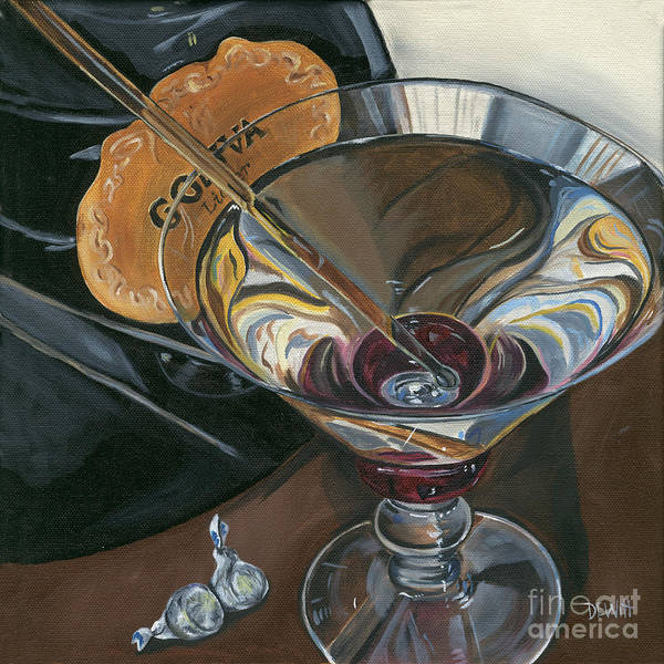 Chocolate Wall Art - Painting - Chocolate Martini by Debbie DeWitt