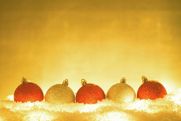 Fake Photograph - Christmas Decorations by Deimagine