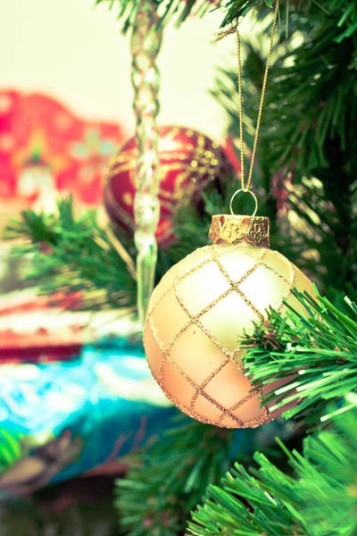 Bauble Wall Art - Photograph - Christmas Tree by Tom Gowanlock