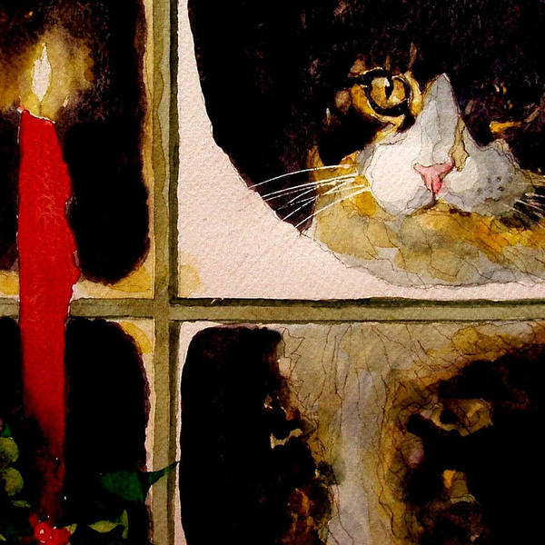 Kitten Wall Art - Painting - Christmas Visit by Paul Lovering