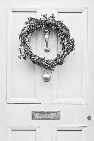 Yule Photograph - Christmas Wreath by Tom Gowanlock