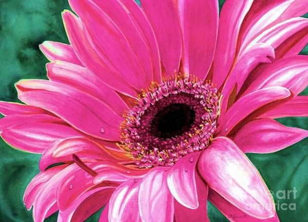 Gerbera Painting - Christy's Daisy by Barbara Jewell