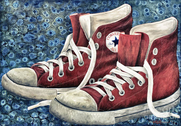 Sneakers Painting - Chucks by Deb Mitchell