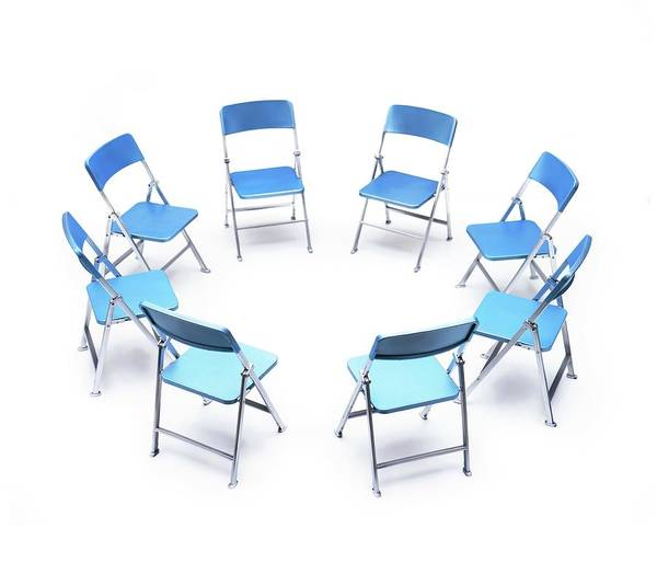 Mediation Photograph - Circle Of Chairs by Cordelia Molloy/science Photo Library