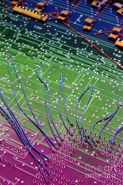 Photograph - Circuit Board by Charlotte Raymond