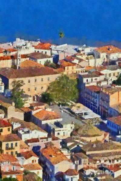 Peloponnese Painting - City Of Nafplio by George Atsametakis