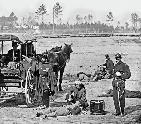 Wall Art - Photograph - Civil War Ambulance, 1864 by Granger
