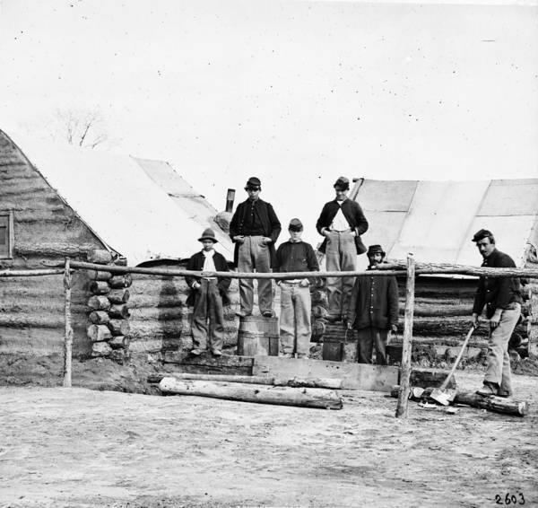 Wall Art - Photograph - Civil War Camp, C1864 by Granger