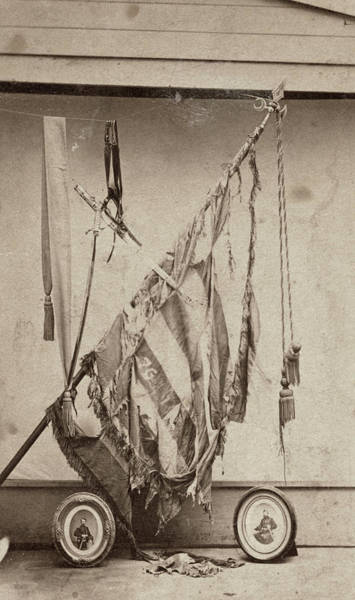Wall Art - Photograph - Civil War Flag, C1864 by Granger