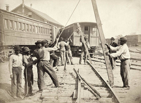 Wall Art - Photograph - Civil War Railroad, C1862 by Granger