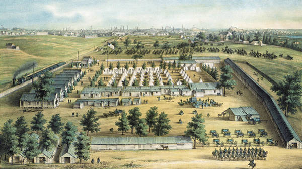 Wall Art - Painting - Civil War Union Camp, 1862 by Granger