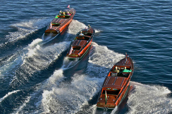 Photograph - Classic Chris Craft Runabouts by Steven Lapkin