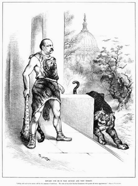 Political Cartoon Painting - Cleveland Cartoon, 1884 by Granger