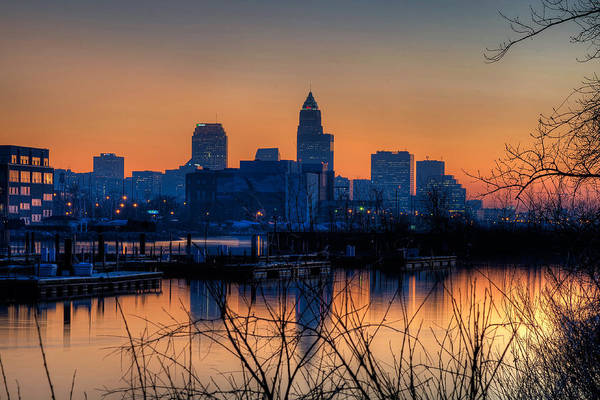 Photograph - Cleveland Skyline From Lake Erie At Dusk by At Lands End Photography