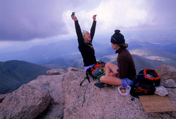 Fourteener Photograph - Climbing Longs Peak, Colarado, Usa by Beth Wald