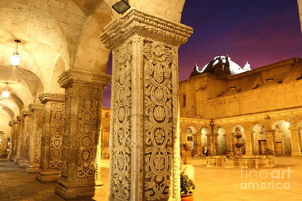 Photograph - Cloisters At Sunset Arequipa by James Brunker