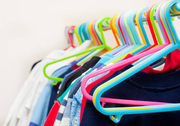 Wardrobe Wall Art - Photograph - Clothes Hangers by Tom Gowanlock