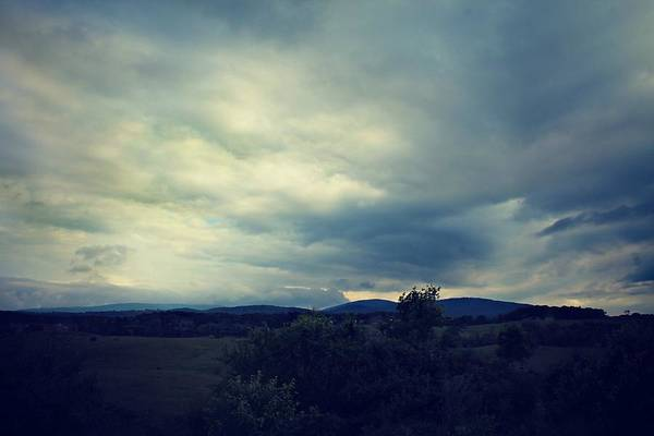 Photograph - Cloudy Blue Ridge by Candice Trimble