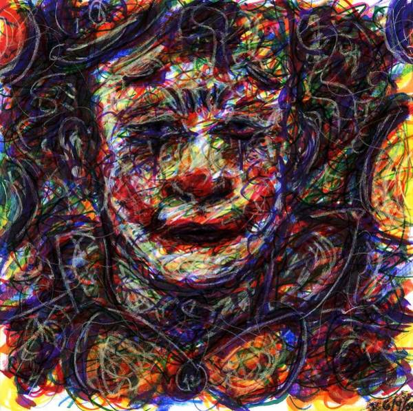 Drawing - Clown With Balloons by Rachel Scott