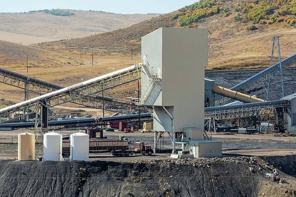 Coal Mining Photograph - Coal-loading Facility At A Coal Mine by Jim West/science Photo Library
