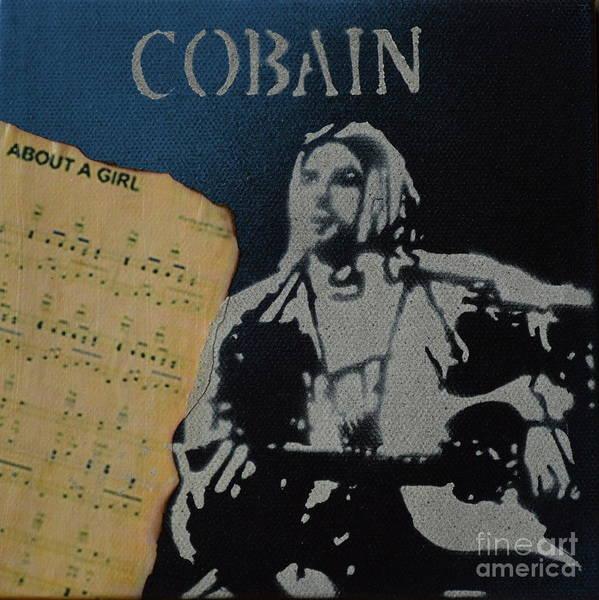 Cobain Spray Art Art Print