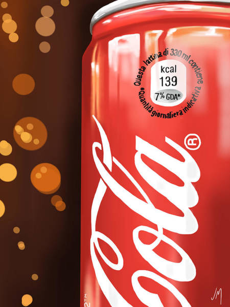 Coca Cola Painting - Coca-cola by Veronica Minozzi