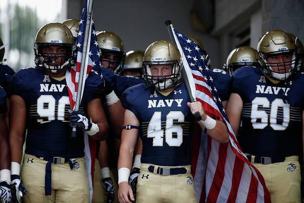Usa Navy Photograph - Colgate V Navy by Rob Carr