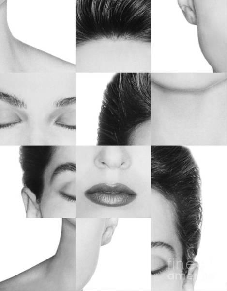 Photograph - Collage Of A Womans Face by Dennis Potokar