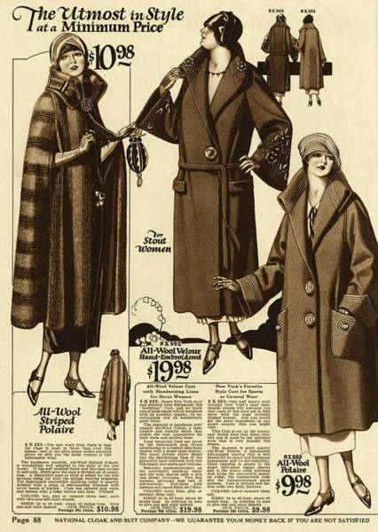 Wall Art - Drawing - Collection Of 1920s American Coats by Mary Evans Picture Library