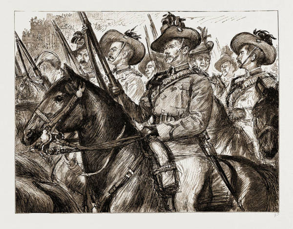 New South Wales Drawing - Colonial Troops Who Took Place In The Jubilee Procession by Litz Collection