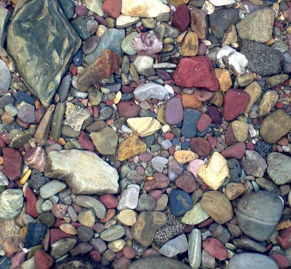 Colorful Lake Rocks Art Print