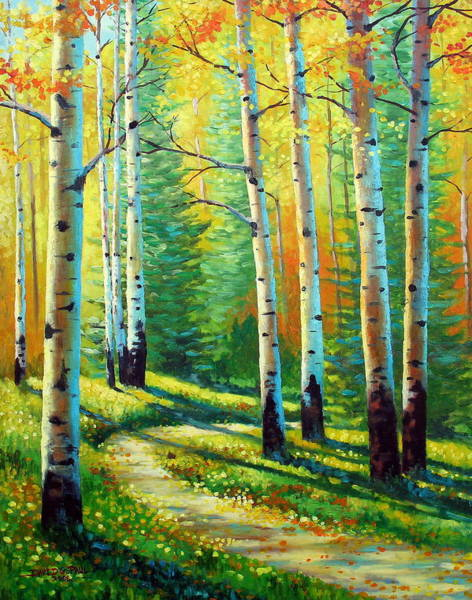 Colorado Landscape Painting - Colors Of The Season by David G Paul
