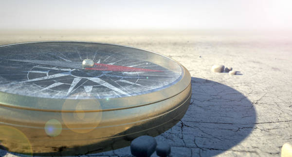Hiking Digital Art - Compass In The Desert by Allan Swart