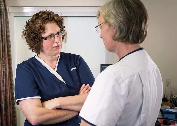 Nurse Photograph - Conflict Resolution by Jim Varney